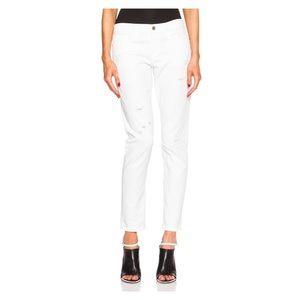 Frame Denim Jeans - FRAME Denim Le Garcon in Rip Blanc
